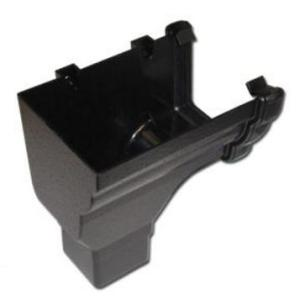 Cast Iron Effect Gutter | Ogee Gutter End Stop Outlet LH | Faster Plastics