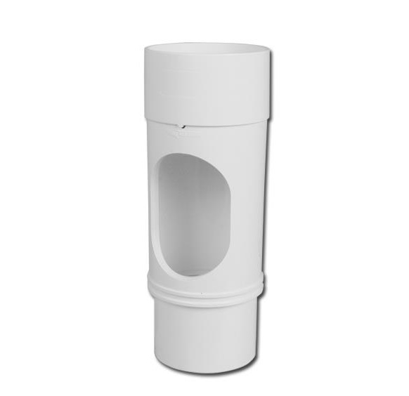 Round Downpipe Access Pipe (White) | Guttering | PVC Gutter | PVC Rainwater Goods | Faster Plastics