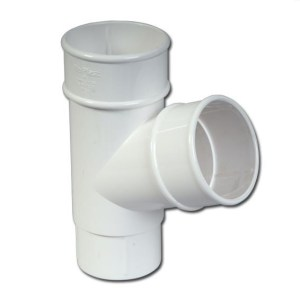Round Downpipe Branch 112 Deg (White) | Guttering | PVC Gutter | PVC Rainwater Goods | Faster Plastics