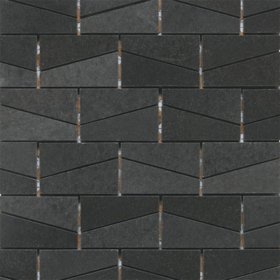 Daltile Stone A La Mod Wedge Polished Mosaic Urban Bluestone