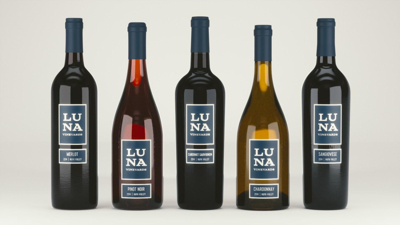 Lineup of Wine Bottles