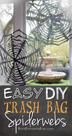 DIY Halloween decor using trashbags! So easy and cheap. (fun video tutorial and step-by-step photos). Fast Forward Fun