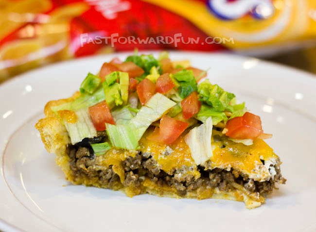Easy Frito Taco Pie Recipe made with Pillsbury Crescent rolls! (super fun video tutorial and step-by-step photos)
