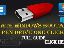 Create Windows Bootable Pen Drive One Click