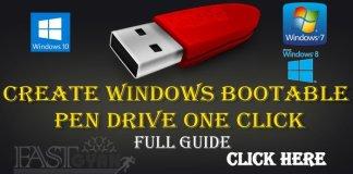 Create Windows Bootable Pen Drive One Click