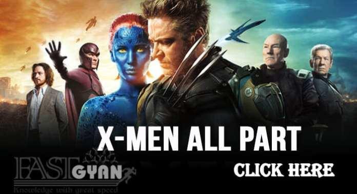 Action Hollywood Movies X Men All Part Hindi Me