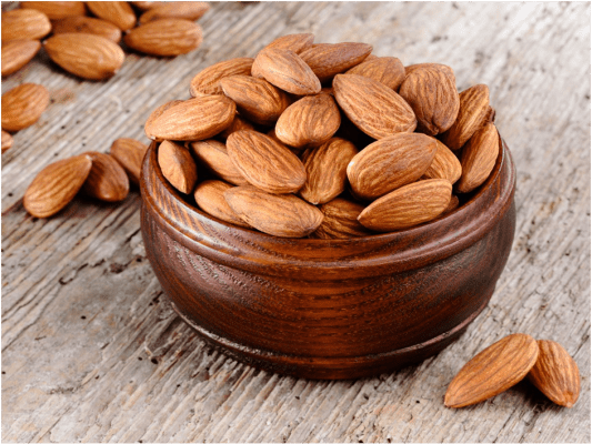Almonds with meal
