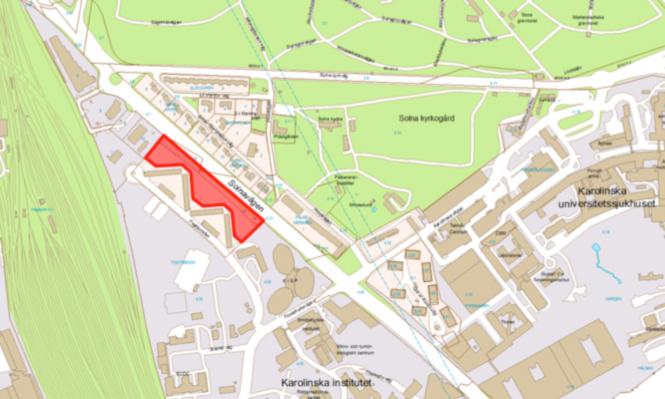 Placeringen för Veidekkes projekt.
