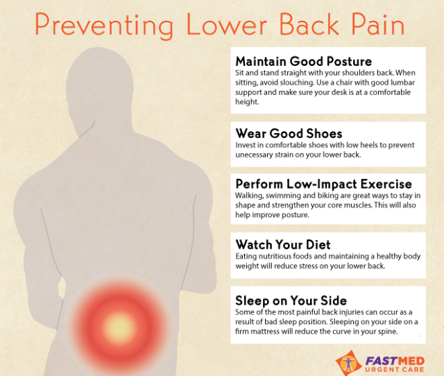 Preventing Lower Back Pain Infographic