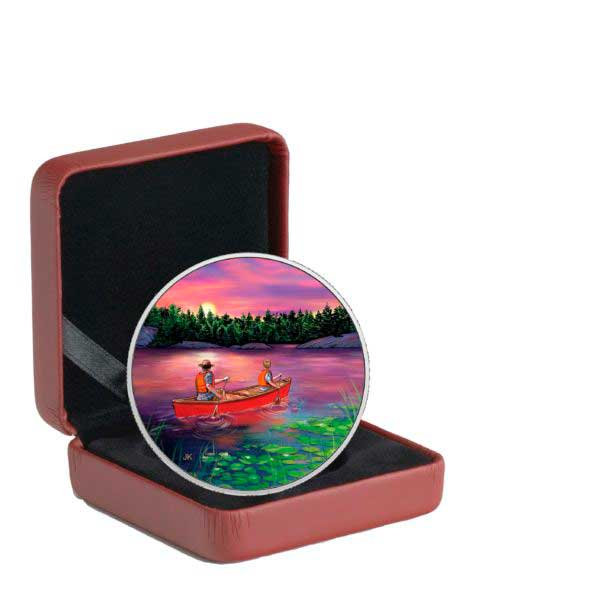 $15 Sunrise 2017 Great Canadian Outdoors Pure Silver Glow-in-the-Dark Coi