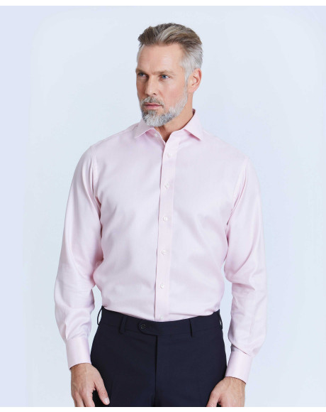 Thomas Pink Westward Stripe Slim Fit Button Cuff Shirt