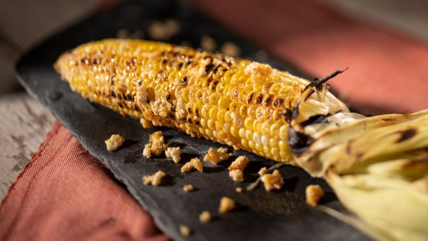 Grilled Street Corn on the Cob with Savory Garlic Spread