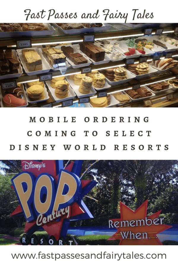 MOBILE ORDERING COMING TO SELECT DISNEY WORLD RESORTS