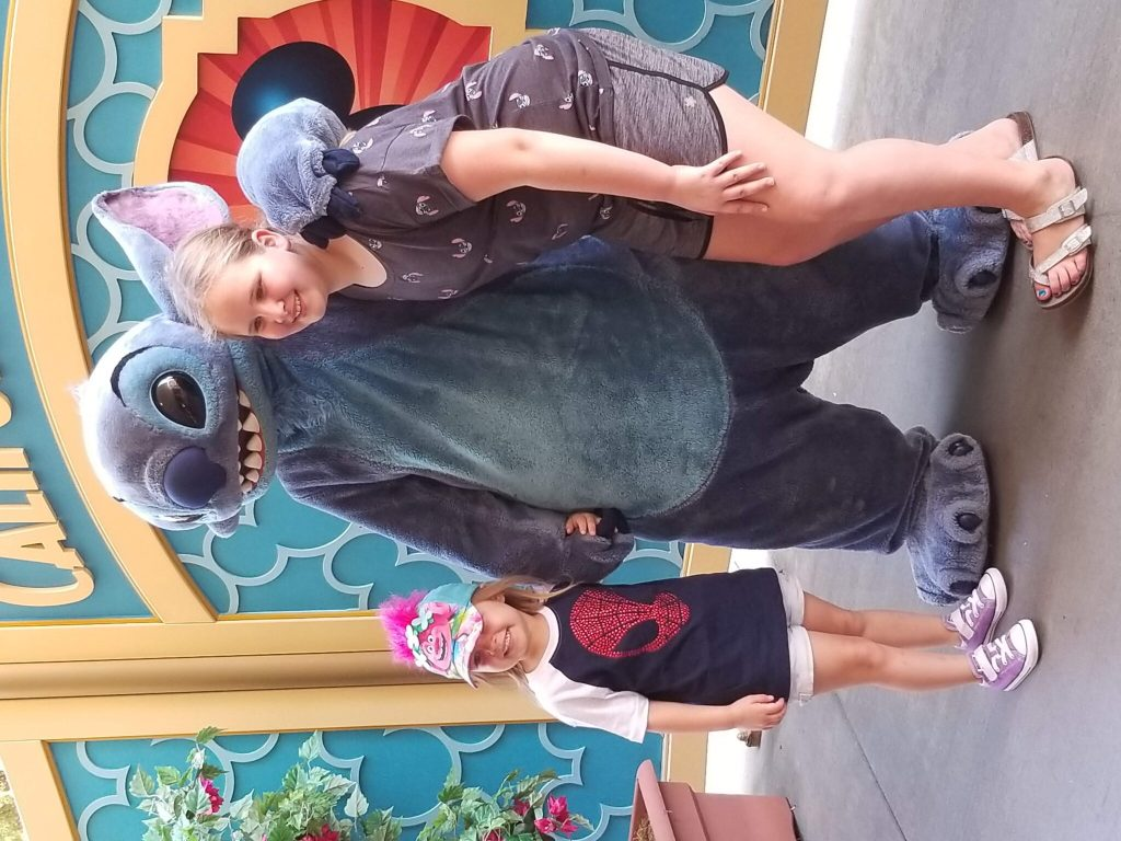 Meeting Stitch at Disney's California Adventure