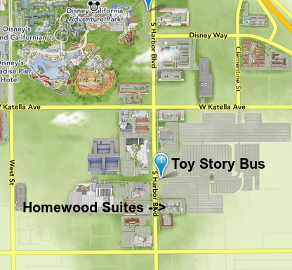Walking to the Toy Story Parking lot from the hotel is a breeze!