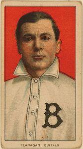 "My baseball card of James ""Steamer"" Flanagan (April 20, 1881 – April 21, 1947)"