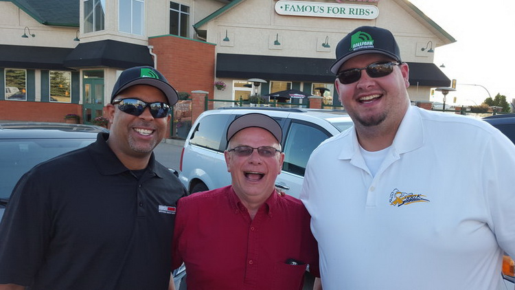 Lance Winn, Joe Todd and Kyle Smith of the Ballpark Broadcasting crew arrived in Saskatoon Wednesday, in preparation for 50+ broadcasts over the 10 day tournament