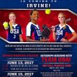 USA Women's National Team in Irvine CA tonight (Thursday night)