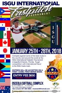 ISGU International Tournament – January 25-28, 2018 – Kissimmee, FL