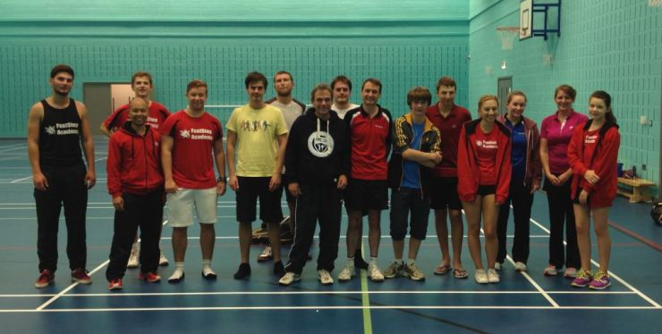 Some of our Elite squad with Hassocks BC after a friendly match