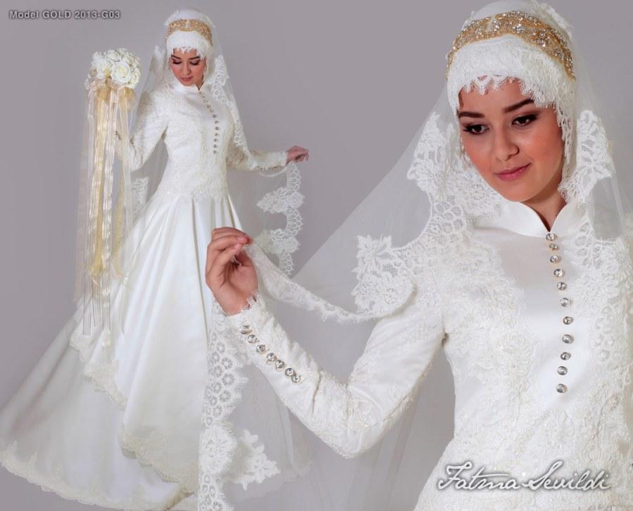 فساتين زفاف محجبات مصرية