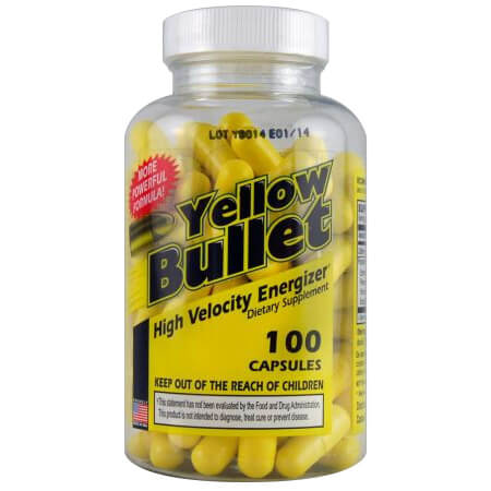 Yellow Bullet Delta Health ECA Fatburner, Delta Health Yellow Bullet ECA fat burner