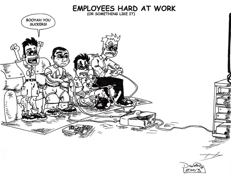 Employees Hard at Work (or something like it)