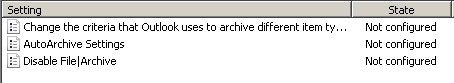 MS Office 2013 GPO-disable AutoArchive