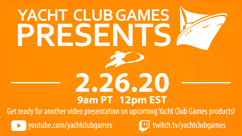 Yacht Club Games Revealing New Stuff Next Week