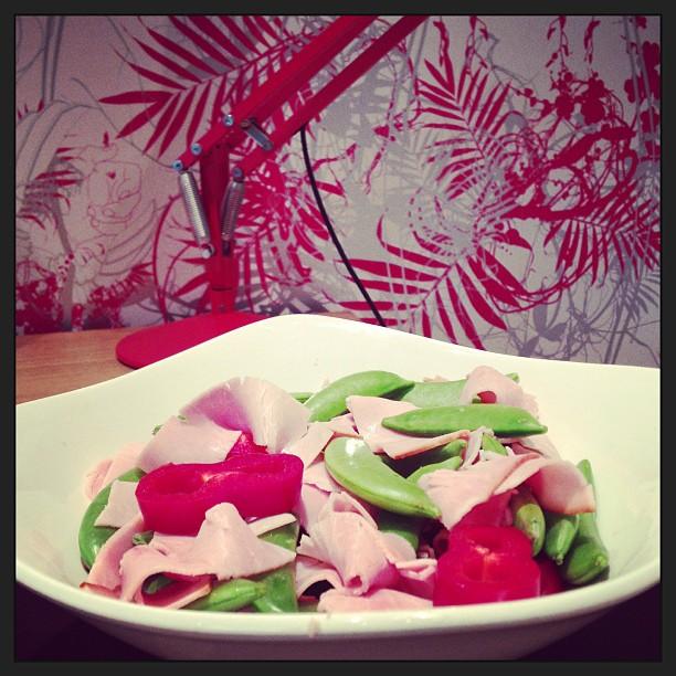Ham, Peppers & Sugar Snaps