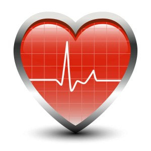 Man's heart and high blood pressure