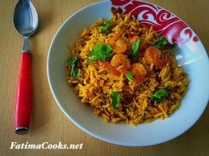 Prawn Pilau Biryani Rice by Fatima Cooks