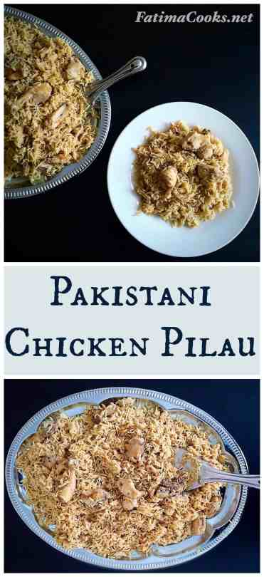 Pakistani Chicken Pilau Rice - Aromatic, comforting, delicious and flavoursome @ fatimacooks.net