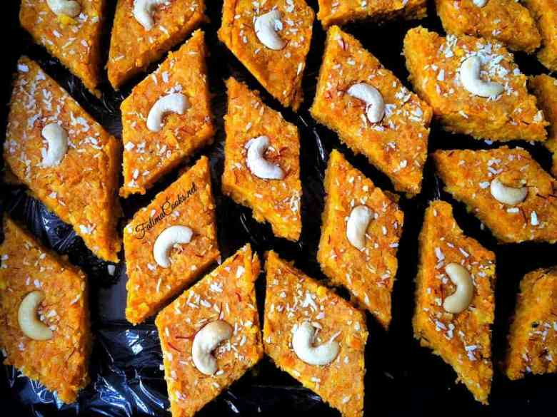 Recipe in Urdu - Gajar Ki Barfi - Indian/Pakistani Carot Fudge