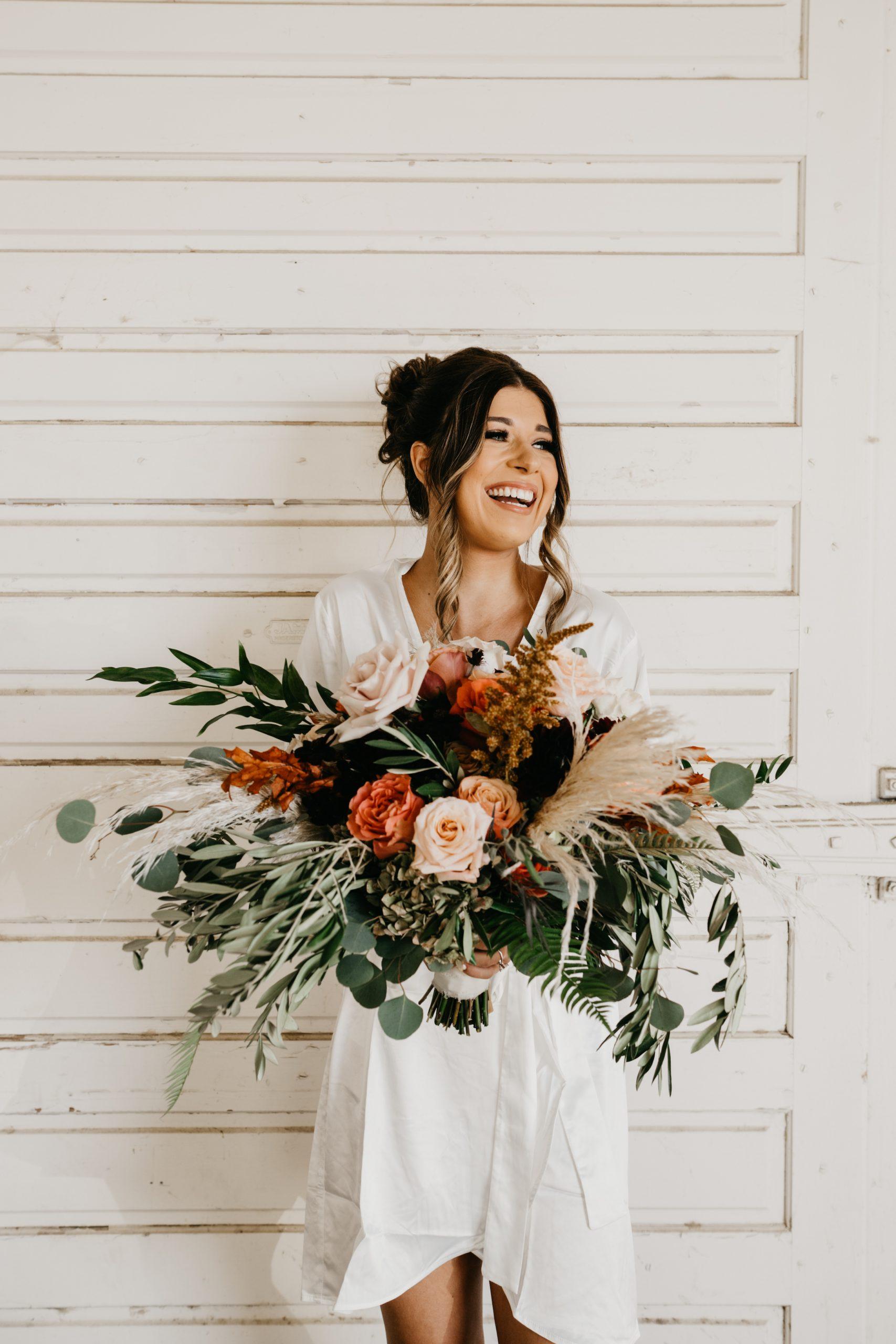 Bride and bridal bouquet, image by Fatima Elreda Photo