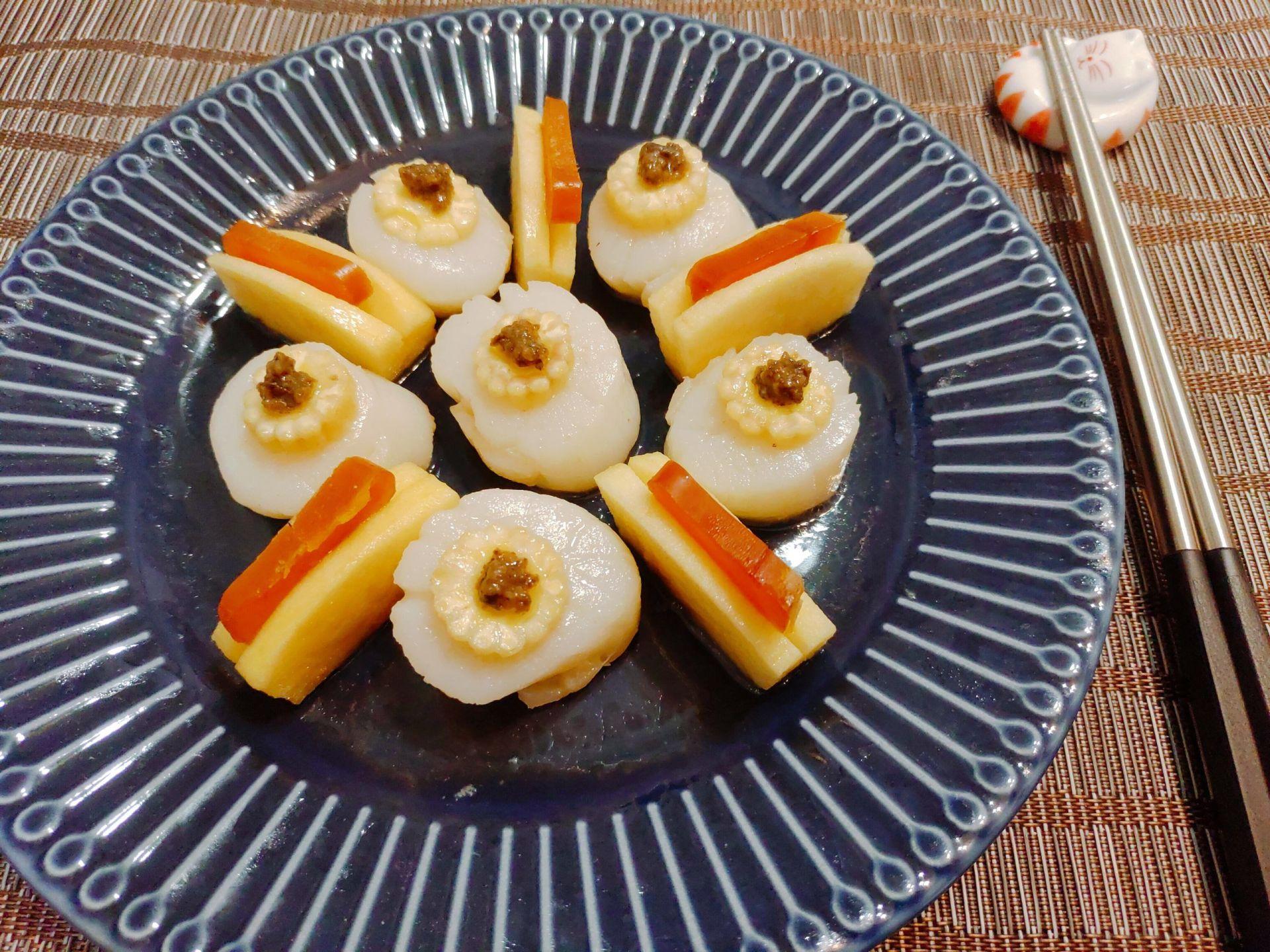 蒜香干貝佐松露醬食譜