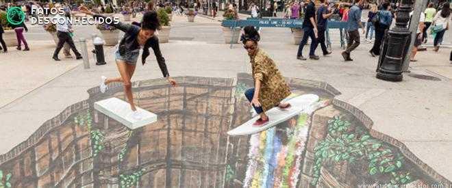 As mais incríveis artes de rua em 3D