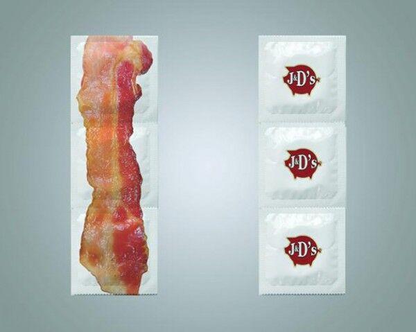 Nova camisinha com sabor, cor e cheiro de bacon chega ao mercado