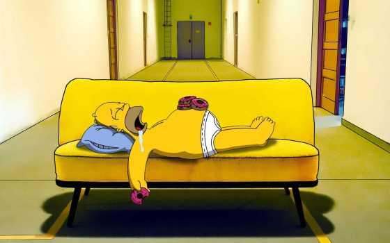 homer simpson sleeping