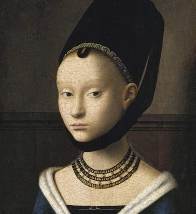 Gemälde / Öl auf Eichenholz (um 1470) von Petrus Christus [um 1410 - 1472/73] Bildmaß 29 x 22,5 cm Inventar-Nr.: 532 Systematik: Kulturgeschichte / Kunst / Porträts / Frauenporträts / 15. Jh.
