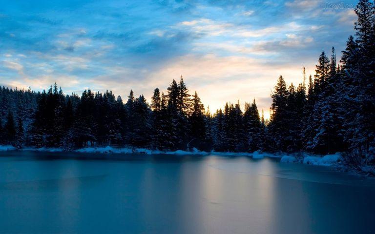 Isso é o que acontece quando alguém resolve atirar em um lago congelado