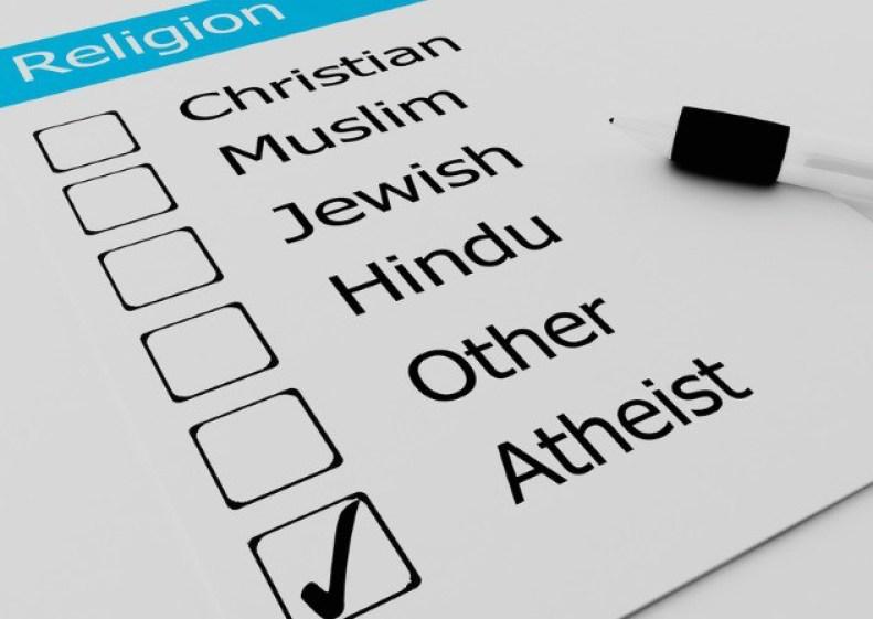 Religious Atheist or Agnostic on checkmark