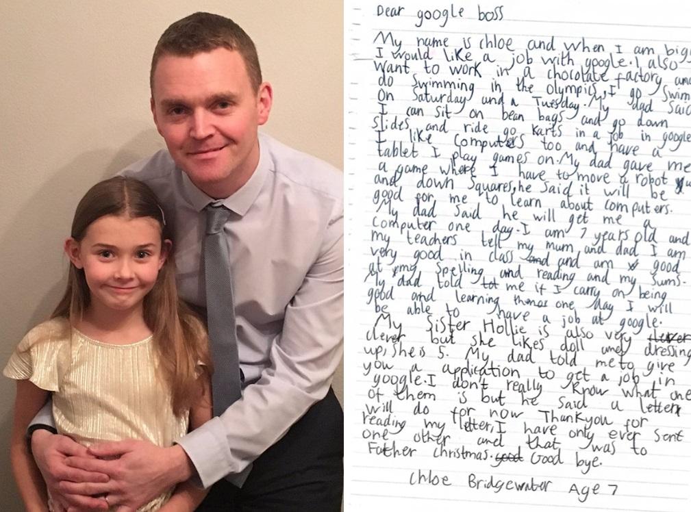 Menina de 7 anos pede para trabalhar na Google e a empresa dá a melhor resposta