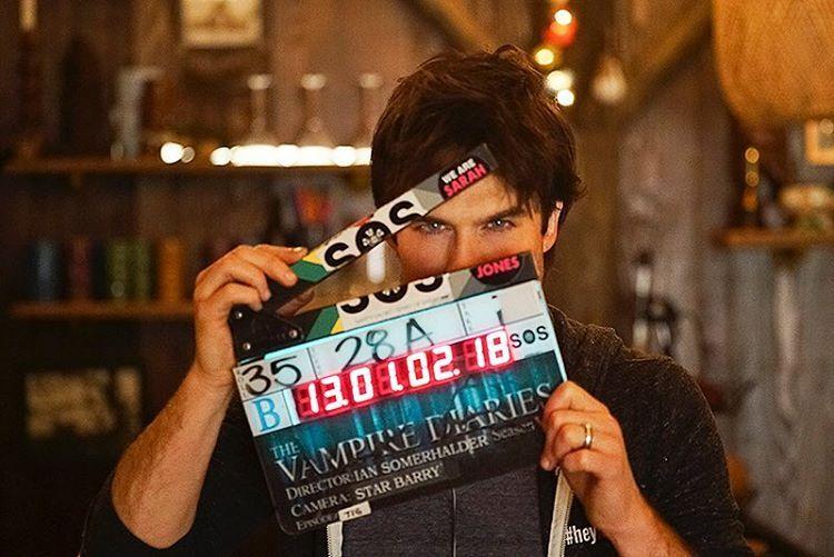 12 melhores fotos do set da série The Vampire Diaries