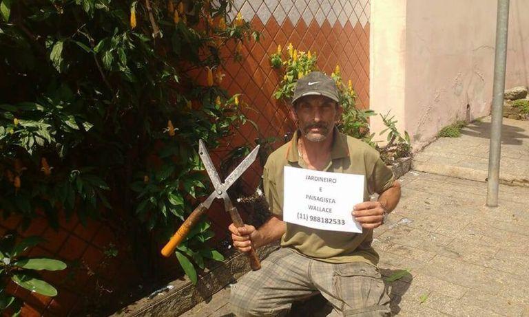 Esse jardineiro vendeu papelão por um ano em SP para realizar um sonho simples