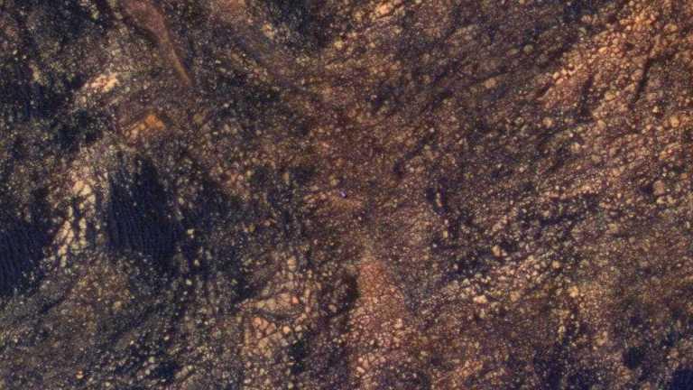O que é esse pontinho azul em Marte?