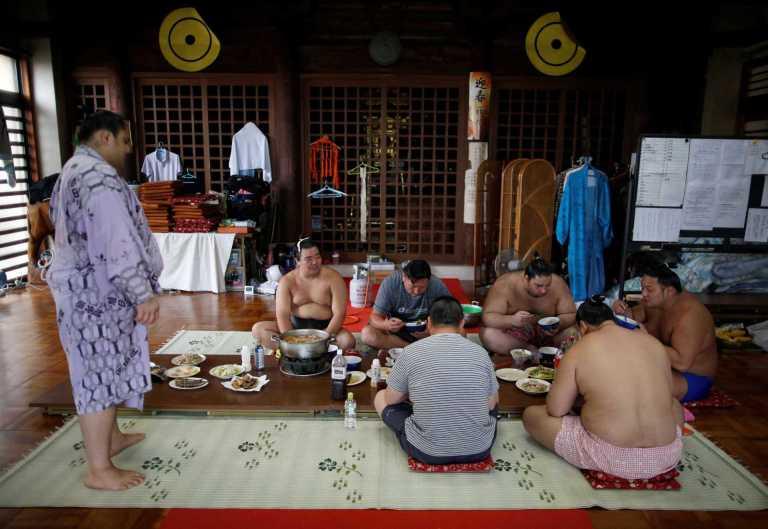 Assim é a vida de um lutador de sumô