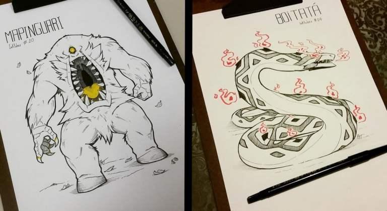 31 ilustrações incríveis de monstros do folclore brasileiro