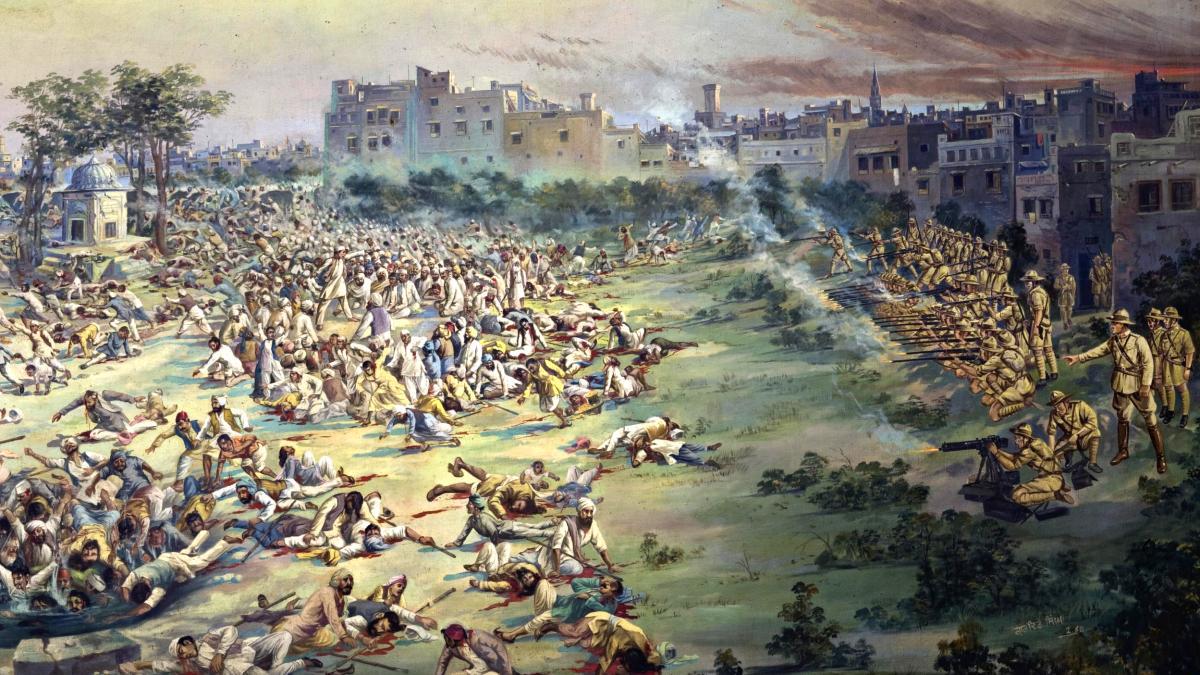 Jallianwala Bagh Massaker 1919 Gemaelde Jallianwala Bagh Masscre 1919 Pain, Fatos Desconhecidos
