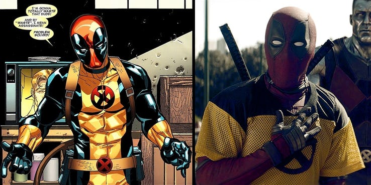 Deadpool 2 Easter Egg Yellow Trainee Jersey, Fatos Desconhecidos